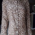 J CREW Animal Print Perfect Cotton/Silk Button Front Top Shirt Blouse 4