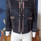 NWOT $395 DKNY DONNA KARAN Beaded 3/4 Sleeve Crop Blazer Jacket 12