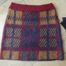 NWT J.O.A Plaid Sweater Mini Pencil Skirt S