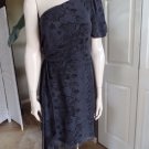 JUICY COUTURE 100% Silk One Shoulder Snake Print Sheath Dress 6