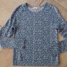 ANN TAYLOR LOFT Blue Animal Print Long Sleeve  Sweater S