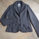 TUBINO Striped Button Front Wool Blend Cardigan Sweater M Made In Italy