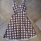 Boden Brown/White Polka Dot Sleeveless Fit & Flare Sheath Dress 8R