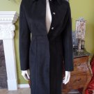 TRUE MEANING Faux Suede Trench Car Length Black Jacket Blazer 2