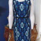ANDREW MARC NEW YORK Printed Sleeveless  Sheath Dress 4
