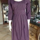 W118 Walter Baker Purple Printed Midi Length Sheath  Dress S