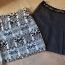 Lot of 2 ETCETERA Skirts Printed Velour Pencil Skirt & A Line Gray Skirt  4