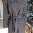 PUMA Black Nylon Belted Trench Jacket Coat US S