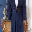 VINTAGE 50's 60's OSTERREICHISCHER LODEN Crop Blazer Midi A Line Skirt Suit 36 S