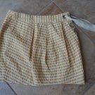 Anthropologie LEIFSDOTTIR Yellow Stripped Cotton Mini Skirt 8