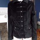 WHITE HOUSE BLACK MARKET Velvet Millitary Jacket Blazer 14