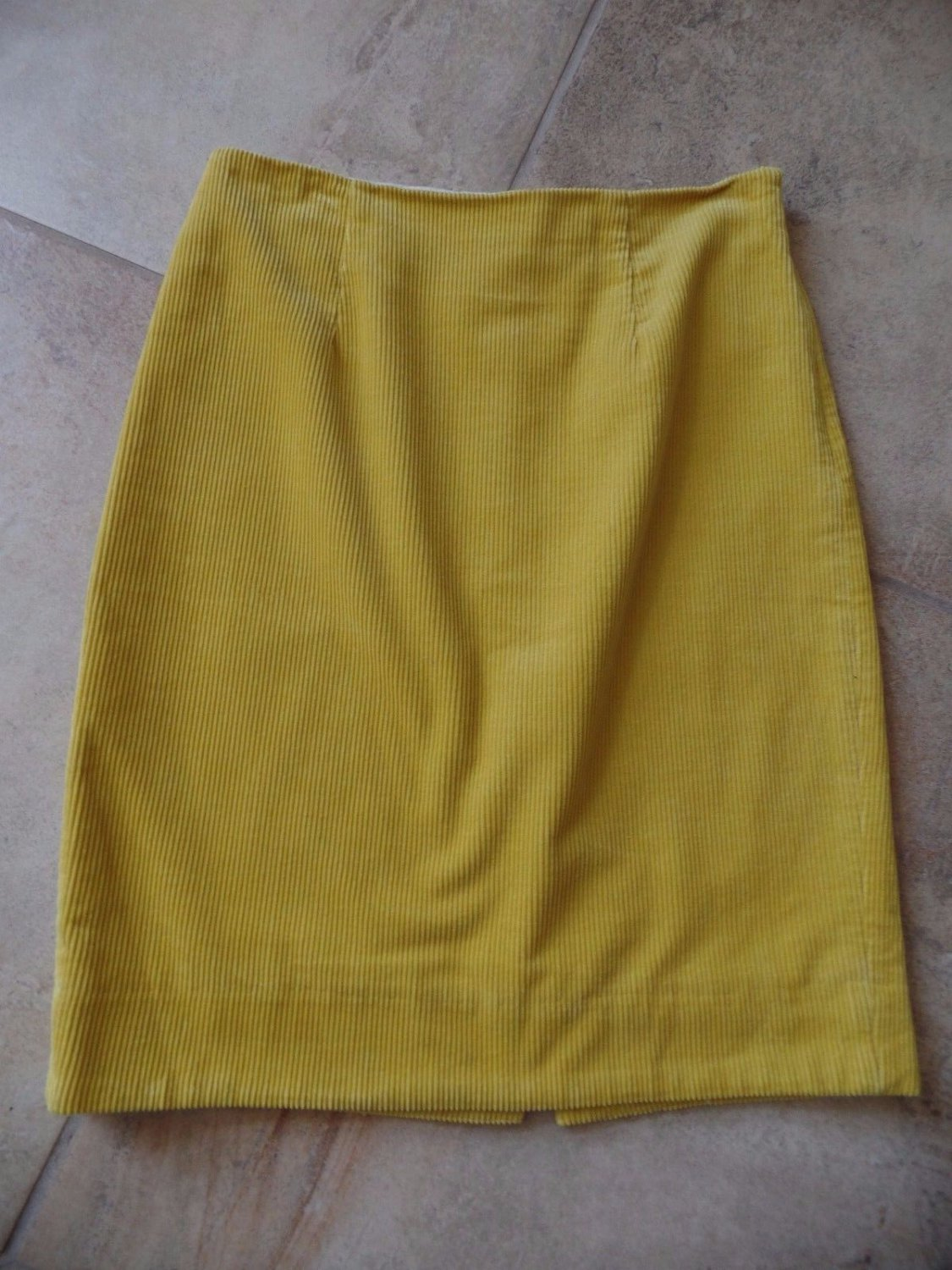 ANTHROPOLOGIE MAEVE Yellow Corduroy  Pencil Straight Skirt  4