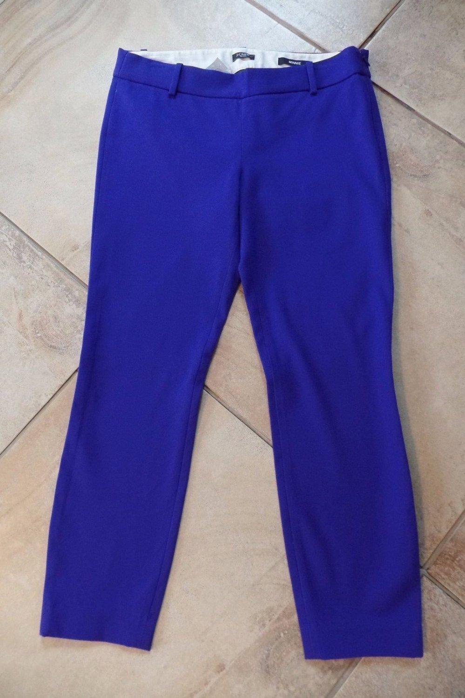 NWT J CREW Purple Cotton Blend Minnie Capri Cropped Pants 4