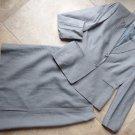 TAHARI Gray Pinstripe Classic Blazer And Pencil Skirt Suit 10