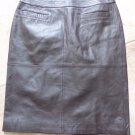 Patrizia Luca Brown 100% Leather Straight Pencil Skirt 4