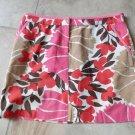 J CREW Floral 100% cotton  Pencil Mini Skirt 6
