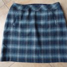 NWT TALBOTS Blue Plaid Wool Blend Pencil Skirt 16W