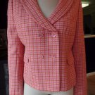 ANN TAYLOR Pink/Organe Tweed Button Front Jacket Blazer 10P