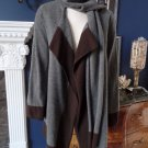 Ralph Lauren Attached Scarf Open Front Wool Blend Cadigan Sweater SP