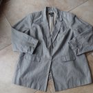 LANE BRYANT Gray Linen Blend Classic Blazer Jacket 26