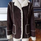 NWT Marvin Richards Brown Faux Sheep Skin Jacket Coat L