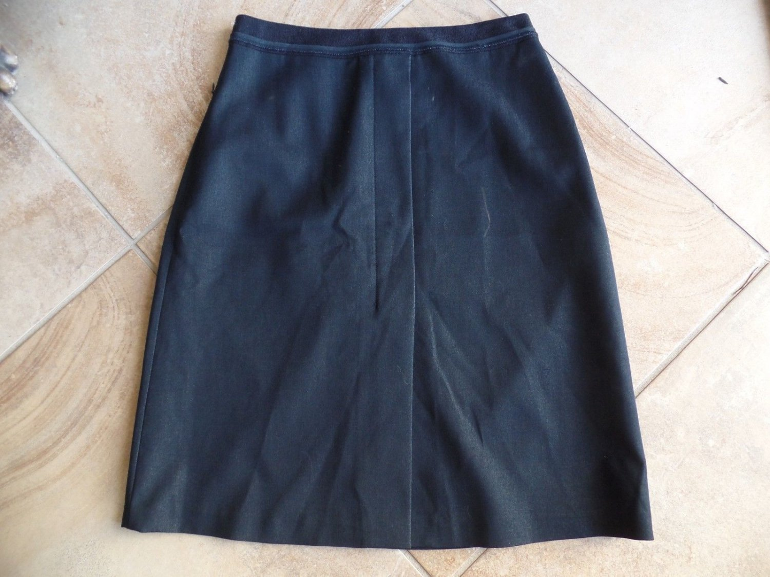 T TAHARI Dark Gray Classic Faux Wrap Pencil Skirt 8