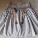 ONLY THE UNLIMITED LABEL Striped Tie Waist A Line Skirt 38