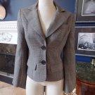 TRINA TURK Grey Plaid Bell Sleeve Button Front Jacket Blazer 2