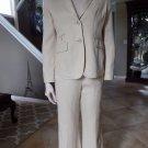 TALBOTS Cream Linen Blend Blazer &  Pant Heritage  Suit 6P