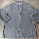 NWT FLAX Gray Cotton Blend Button Front  Blazer Jacket L