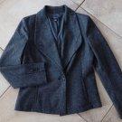 ANN TAYLOR Gray Felted Classic Jacket Blazer 8