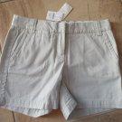 NWT J CREW Khaki Chino Classic Twill Shorts 0