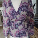 NWT BANANA REPUBLIC Pinted Wrap Top Shirt Blouse XS