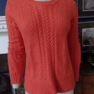 BCBG MAX AZRIA Coral  Kayne Cable Knit Sweater S