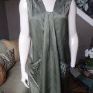 NWT $325 MILLY Drape Front Putty Silk Blend Weekend Shift  Dress 6