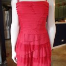 $338 NWT BCBG MAX AZRIA RIORED  TIERED TULLE COCKTAIL SHEATH  DRESS 10P