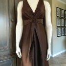 J CREW Brown Satin Fit & Flare Sheath Dress 2