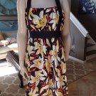 Anthropologie Moulinette Soeurs Floral 100% silk Fit & Flare Halter Dress 10