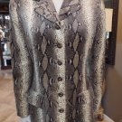 VALENTINO Olive Animal Print Velveteen Button Front Jacket Blazer 46 Italy 12