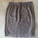 NWT GAP Brown Sequin Stretch Straight Pencil Skirt 0