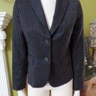 J CREW Pinstripe Brown  Wool Classic Jacket Blazer 6