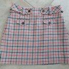 J CREW Plaid Checked 100% Wool Pencil Mini Skirt 4