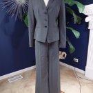 Ann Taylor Gray Classic Wool Blend Jacket & Pant Suit 10