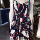 VINTAGE 60's Nutical Fit & Flare Sheath Dress M