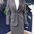346 Brooks Brothers Gray Pinstripe 100% Wool  Blazer & Pencil skirt Suit 2