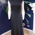 NWT ANN TAYLOR Black Ponte Midi Zipper Detail  Sleeveless Sheath Dress 4