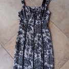 NWOT Guess Black/White Lace  Printed Sleeveless Stretch Satin Bodycon Dress 2