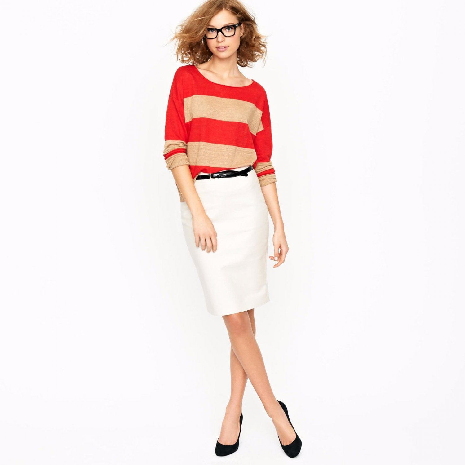 J CREW No. 2 pencil skirt in double-serge cotton  Skirt  6