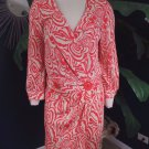 NANETTE LEPORE Printed 3/4 Sleeve Wrap Dress 2