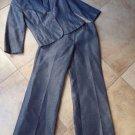 LOFT Ann Taylor Navy Linen Denim & Julie Pant Suit 2P/4